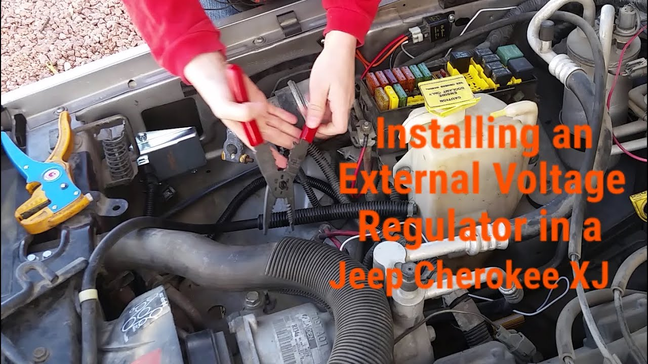 Installing An External Voltage Regulator On A Jeep Cherokee Xj Youtube Wiring Diagram 2001 Dodge Caravan 1994