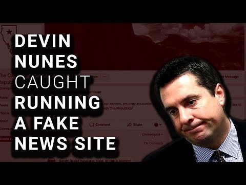 "Devin Nunes' Fake ""News Site"" Exposed, Immediately Taken Down"