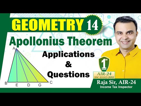 Geometry #14, Apollonious Theorem: Applications in Triangle, Parallelogram and Circle