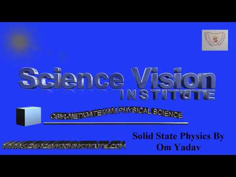 Solid State Physics Lecture-1: Part-I: Introduction to Solid State Physics