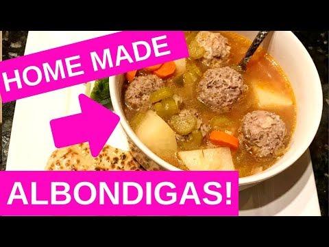 HOME MADE ALBONDIGAS SOUP!!! FAMILY RECIPE!!