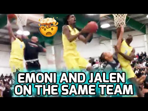Download #1 RANKED EMONI BATES TEAMS UP WITH #2 RANKED JALEN DUREN! Insane Game With INSANE POSTER 🤯