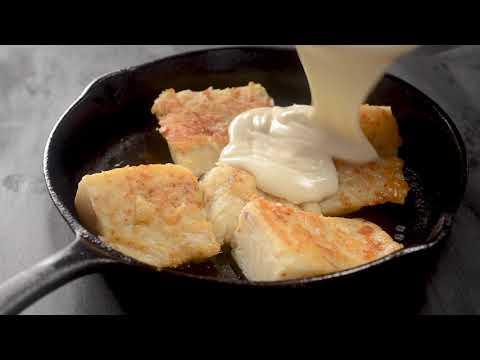 Quick Baked Cod In Cheese Sauce (Bacalhau Quatro Queijos)