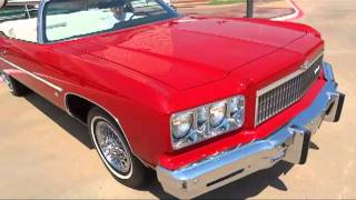 1975 Chevy Caprice Classic Convertible / Legendary low-mileage drop-top action