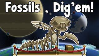 Starbound Guide Nightly - Fossils , Dig'em & Collect'em!? - GullofDoom