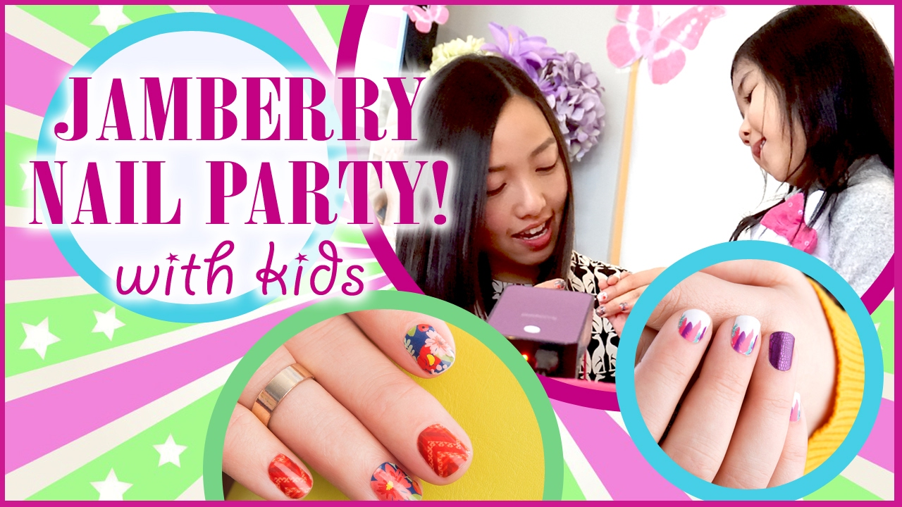 Jamberry Nail Party with Jamberry Junior Nail Wraps - Nail polish ...