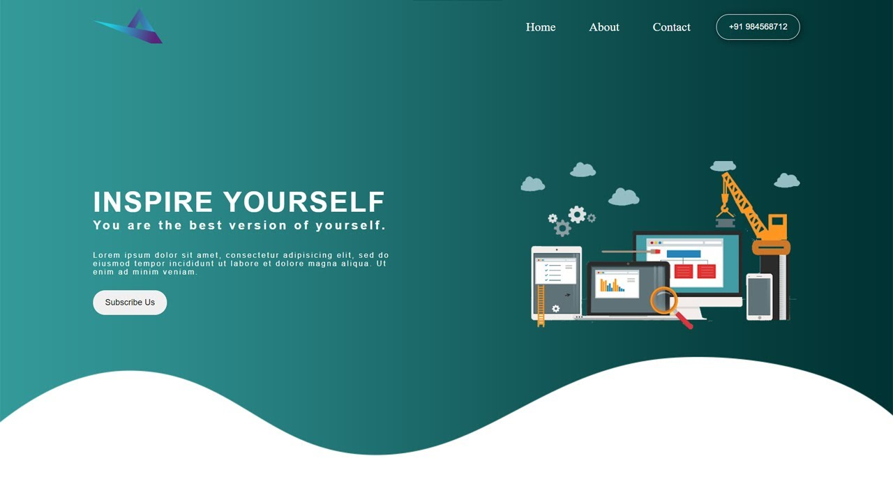 Simple Landing Page | HTML AND CSS TIPS AND TRICKS