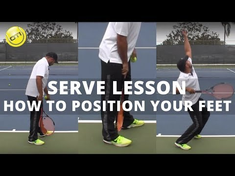 Serve Tip: How To Position Your Feet