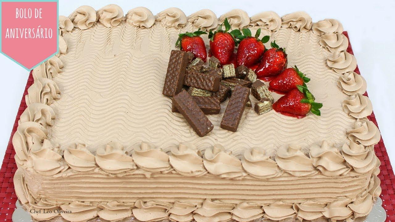 Bolo De Aniversário De Chocolate Super Fofinho Youtube