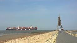 Cuxhaven Grimmershörn Bucht und Kugelbake