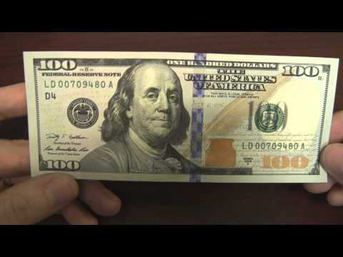 New US $100 Bill Design And Security Features