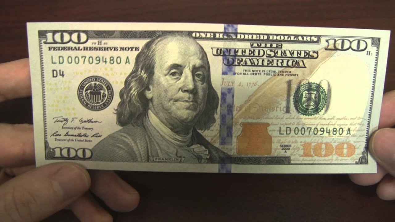 New Us 100 Bill Design And Security Features Youtube