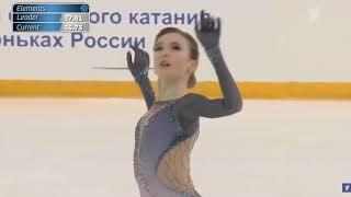 Дарья Усачёва Первенство России среди юниоров 2020 Короткая программа