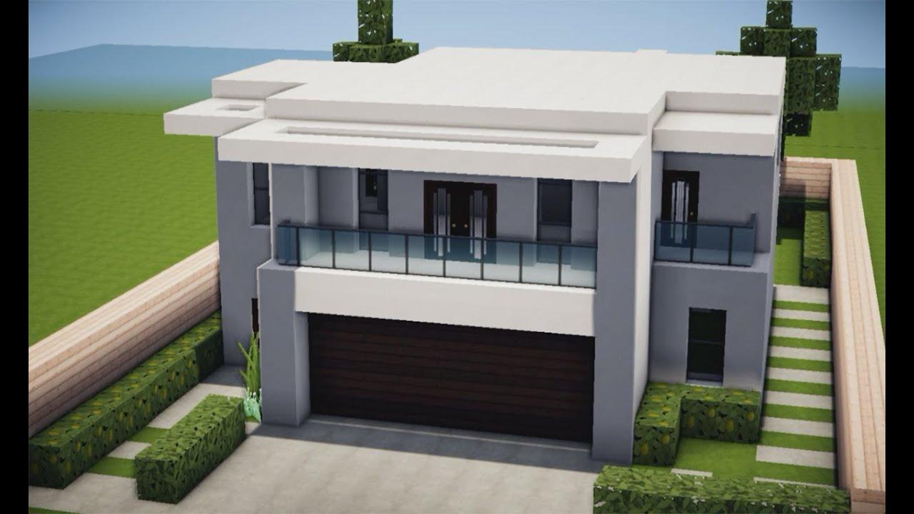 Minecraft tutorial casa moderna em 15 minutos youtube for Casa moderna crotone