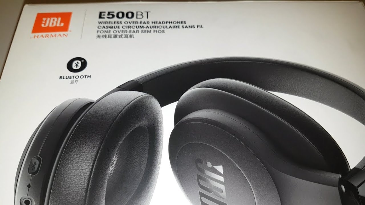 JBL E500BT unboxing - Over Ear Headphone, Bluetooth