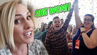 I CAN'T BELIEVE WHAT SHE WON AT CVX LIVE! Surprise Gift For Viewers!