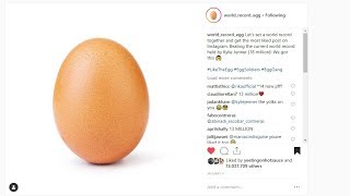 WORLD RECORD EGG LIKE COUNT MOST LIKED INSTAGRAM POST