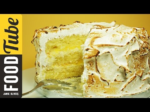 Triple Layer Lemon Meringue Cake With Marshmallow Icing Recipe