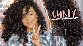 CAREFREE CURLY HAIR ROUTINE *Step By Step*