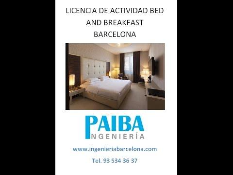 Licencia de actividad o apertura bed and breakfast Barcelona - Paiba ingeniería
