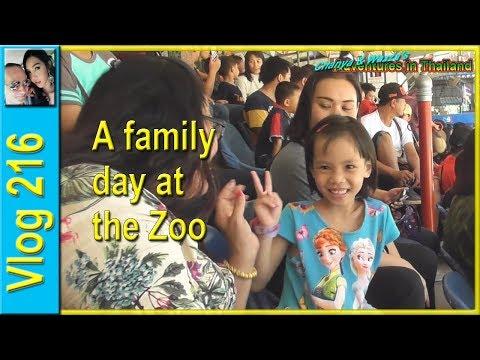 A family day at the Zoo (วันครอบครัวที่สวนสัตว์)