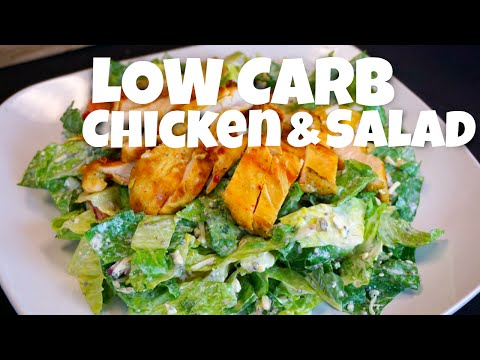 Low Carb Chicken and Salad low carb recipe salad recipes low carb diet