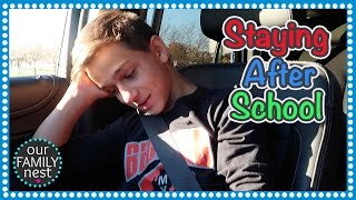 HE HAD TO STAY AFTER SCHOOL!