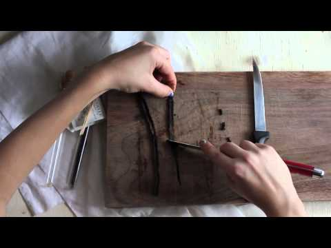 How to Prep Vanilla Beans for Extract
