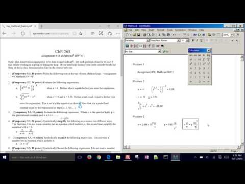 Introduction to MathCAD for Engineers