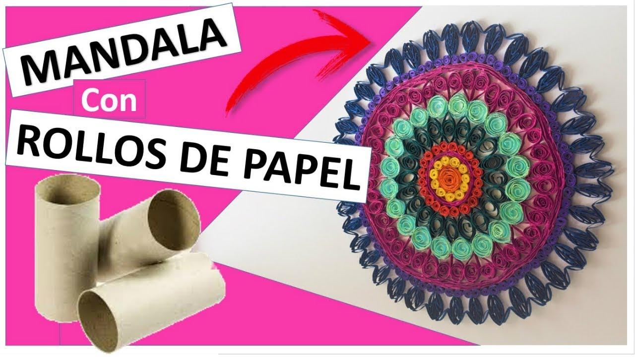 Mandala con rollos de papel WC