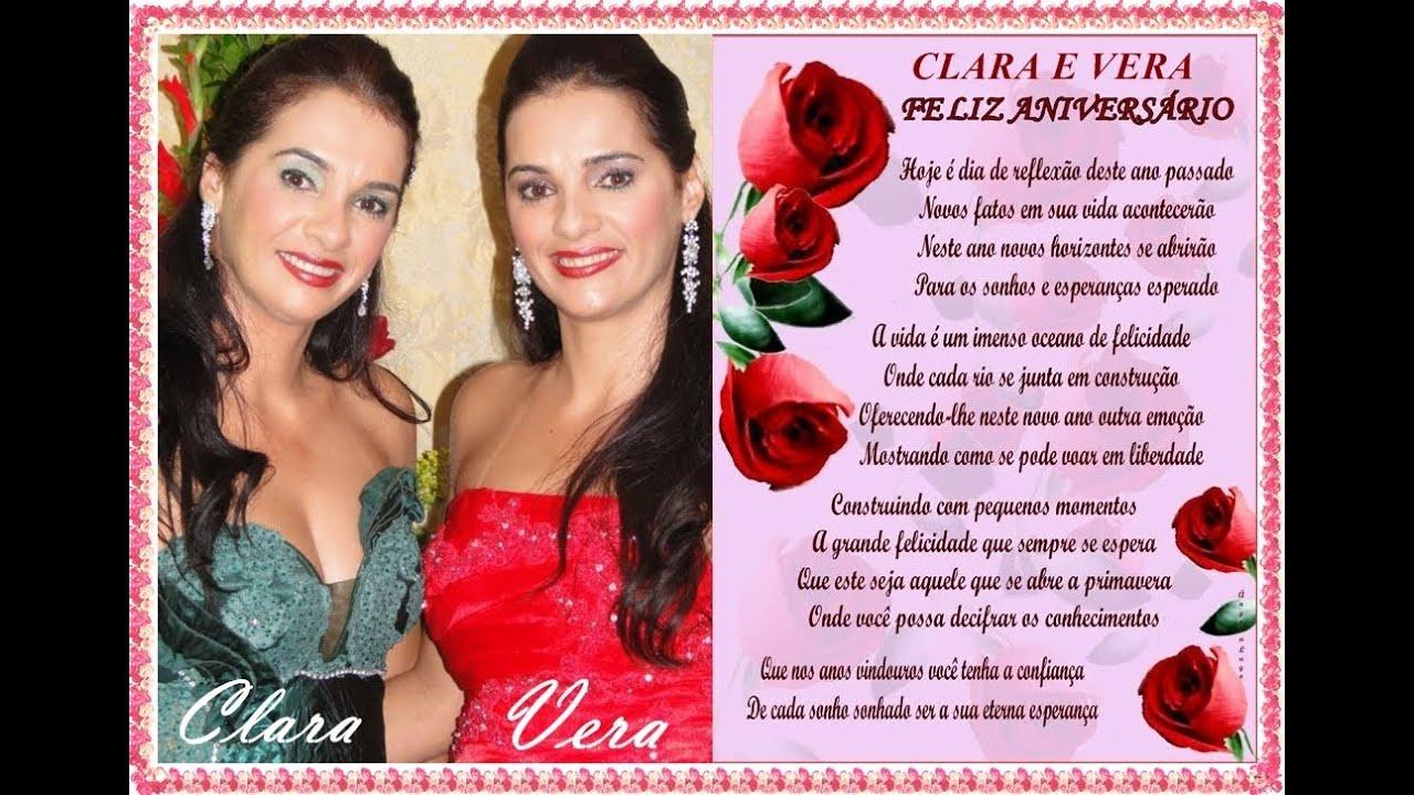 Mensagem De Aniversário Para Clara E Vera