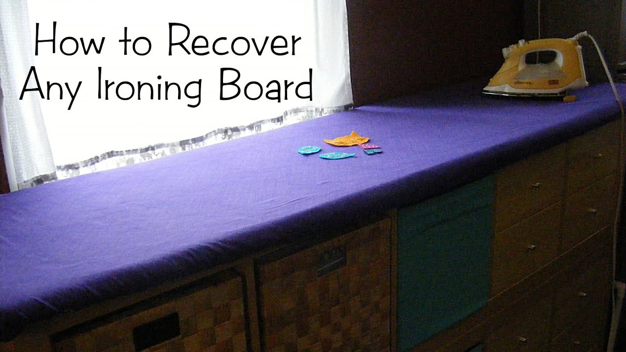 How To Recover Your Ironing Board   YouTube