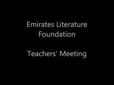 Emirates Literature Foundation Teachers' Meeting 2016