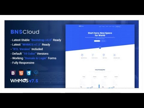 BNSCloud | Multipurpose Hosting with WHMCS Templates | Themeforest Templates