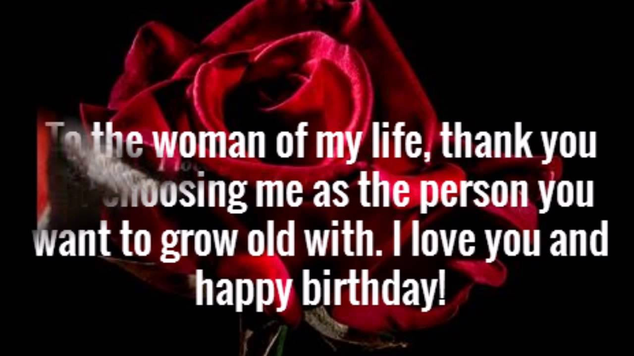Birthday Wishes For Wife YouTube – Happy Birthday Greeting for Wife