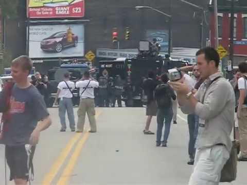 Pittsburgh G20 - Police use LRAD