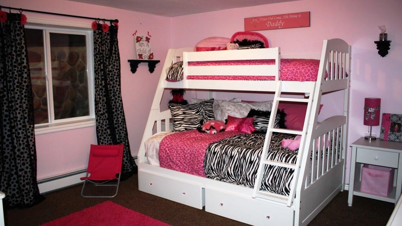teenage girl bedroom ideas with bunk beds - youtube