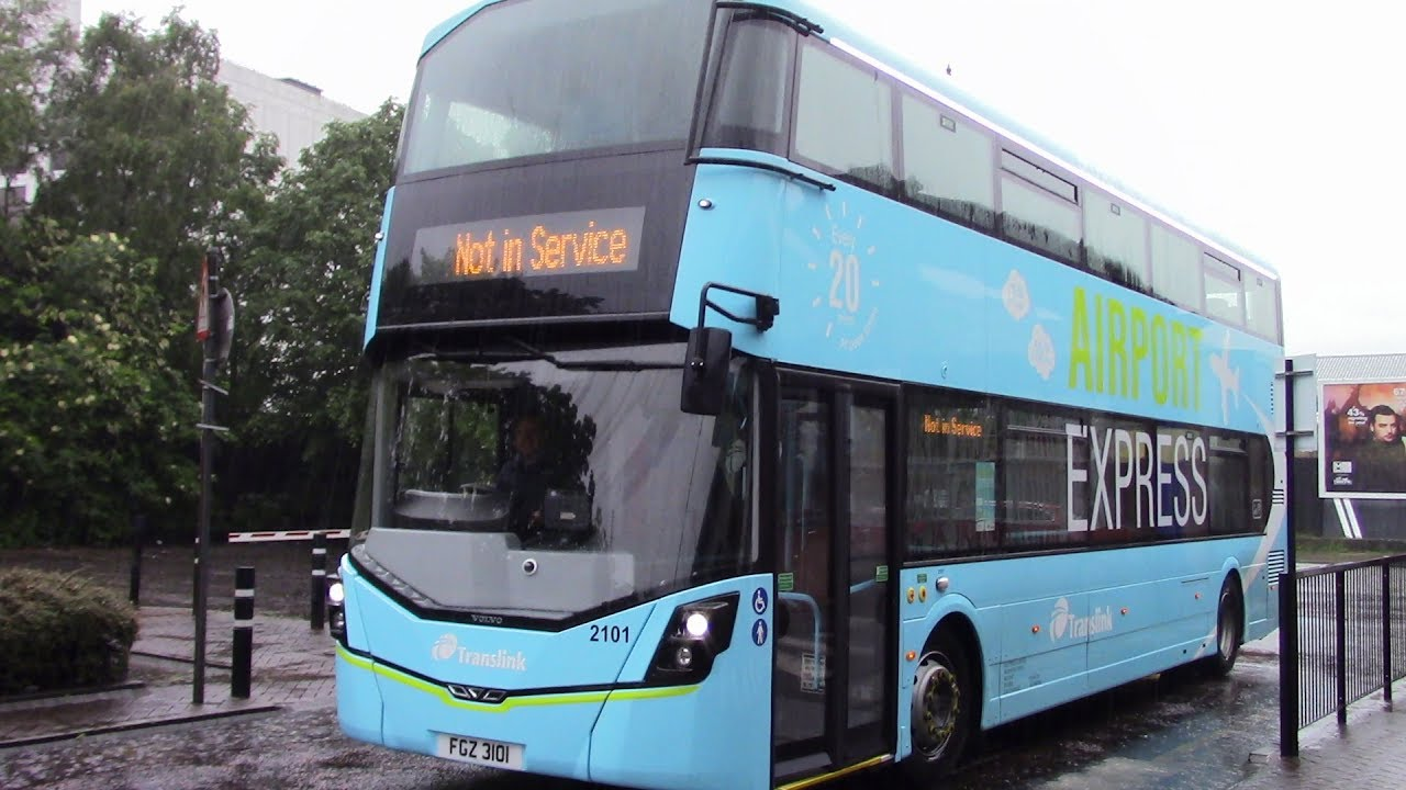 ride on new ulsterbus airport express gemini 3 number 2101 5 6 17