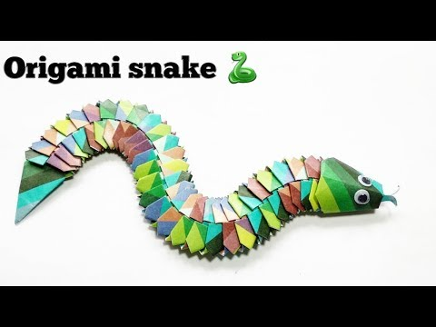 How to make an origami snake? Origami for kids and beginners