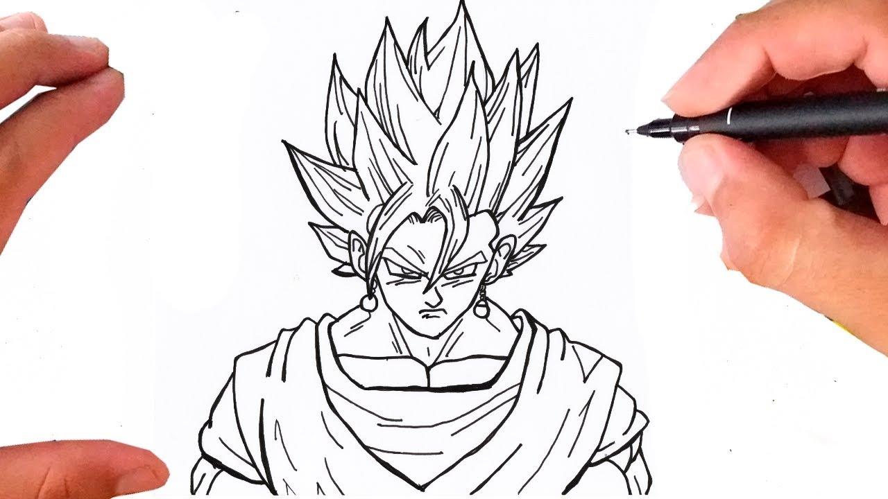 Como Desenhar Vegetto Fusao De Goku Com Vegeta Dragon Ball