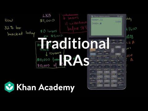 Traditional IRAs | Finance & Capital Markets | Khan Academy