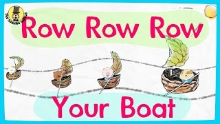 Row row row your boat video | Nursery rhymes for kids