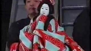 Japanese Bunraku puppets