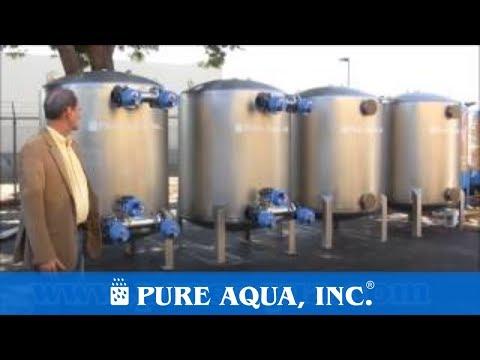 Industrial Stainless Steel Multi Media Filters Saudi Arabia 4 x 282,000 GPD | www.PureAqua.com