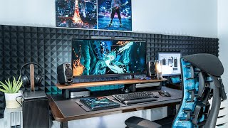 My Ultimate DREAM Desk Setup 2021 Tour - Clean & Minimal Setup