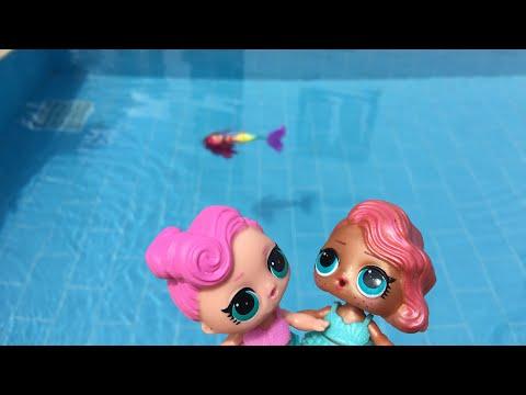 LOL bebekler havuz keyfinde l çocuklar için havuz videoları