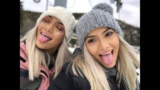 OUR FIRST TIME SNOWBOARDING !!!!!
