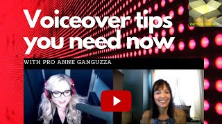 Voice Talent, Coach, Speaker Anne Ganguzza featured on OUTSIDE THE BOX!