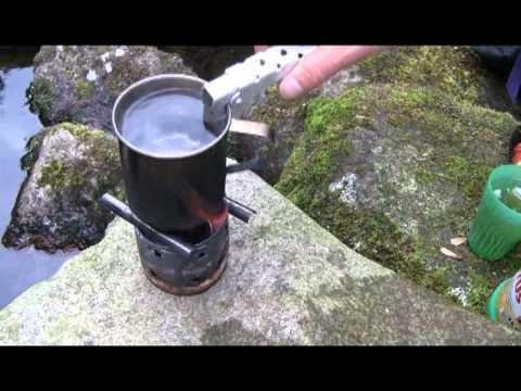 selfmade camping kocher mini kocher beim klettern. Black Bedroom Furniture Sets. Home Design Ideas