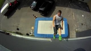 Boys on the trampoline! MUST SEE!